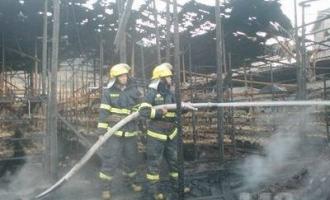 屏南县一食用菌种植大棚发生火灾