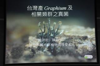 主题报告:黃尹則,台湾产 Graphium 属真菌及相关类群真菌之分类 (3)