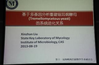 主题报告:刘新展,基于多基因分析重建银耳纲酵母的系统进化关系 (4)