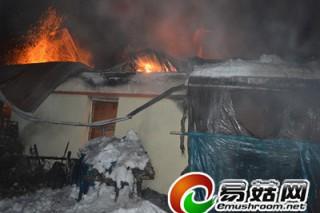 安图县永庆乡一木耳菌房着火 延边消防合力灭火