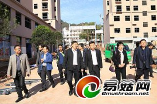 山西宁武县长王卓带队到中国香菇文化村考察