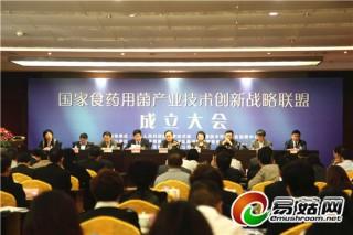 国家食药用菌产业技术创新战略联盟在南通成立