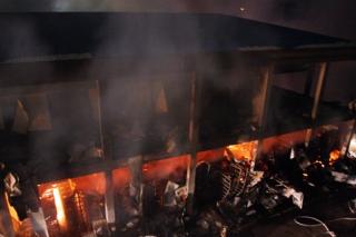 浦南街道一食用菌生产加工厂发生火灾
