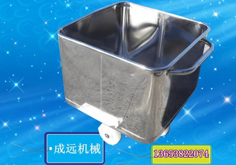 料车料斗厂家 标准桶车(圆角桶车)由不锈钢制作,独特圆角,圆弧设计不