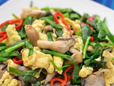 韭菜排骨炒鸡蛋藕炖平菇藕怎么切图片