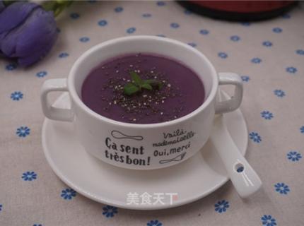 紫薯茯苓小米糊
