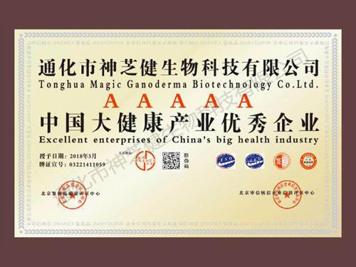中国大健康产业优秀企业