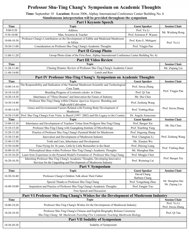 张树庭教授学术思想研讨会日程表(英文)