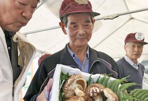 「赤目松茸」の初競り 最高1キロ6・6万円