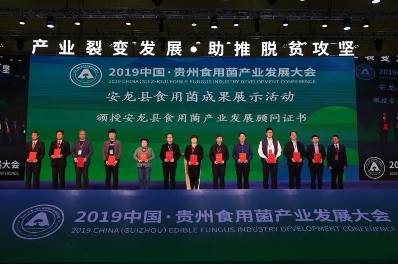 启动仪式:颁授安龙县食用菌产业发展顾问证书