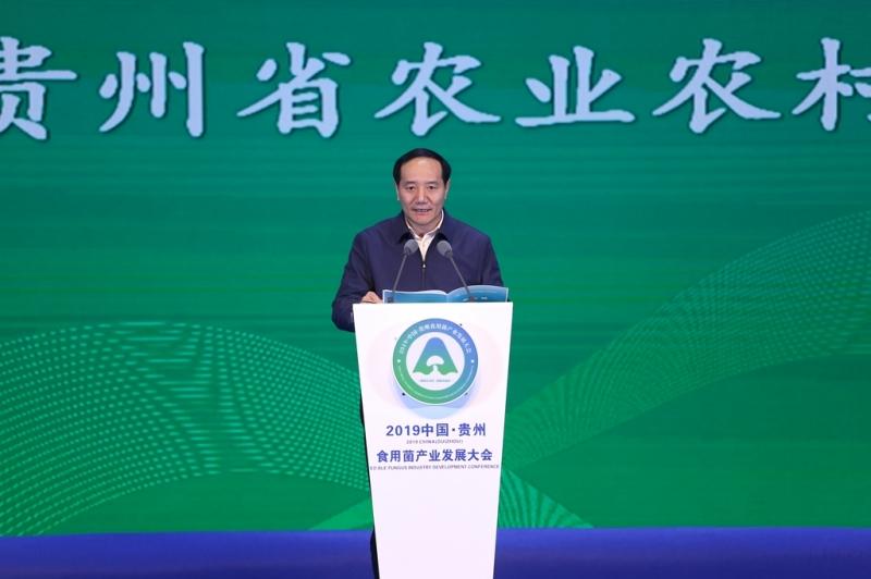 开幕式:杨昌鹏通报全省食用菌产业发展情况 贵州省农业农村厅厅长