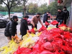 """""""安徽好人""""为莲花社区困难居民捐赠千斤蘑菇 ()"""